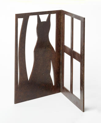 Seated Cat at Window